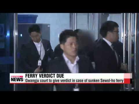 Gwangju court to give verdict in case of sunken Sewol-ho ferry   이준석 선장 오늘 선고…살인