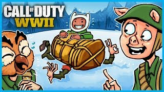 Call of Duty: World War II Funny Moments! - Care Package Killcam, Goofy Outfits, and Kneemless!