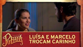 As Aventuras de Poliana | Tia Luísa e Marcelo compartilham momento de carinho