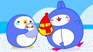 MOLANG and the PINGUIN - MOLANG COMPILATION - Cartoons for Kids