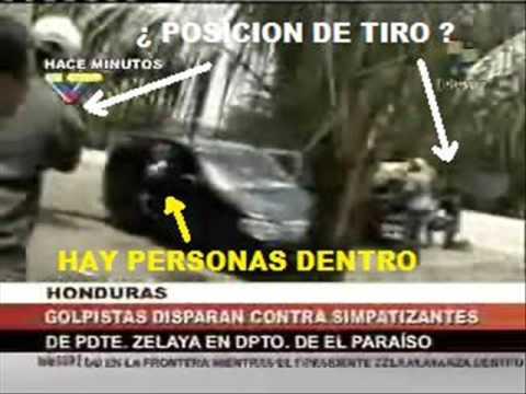 Evidencia: TELESUR y Zelayistas simulan ataque de Fuerzas Armadas Hondureñas