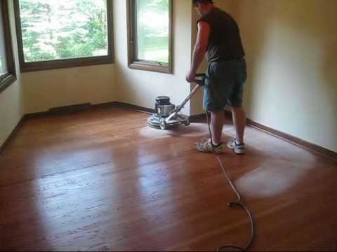 Refinishing A Hardwood Floor Youtube