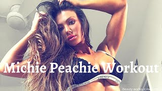 Fitness model Michie Peachie workout motivation | body workout | workout | workout motivation |