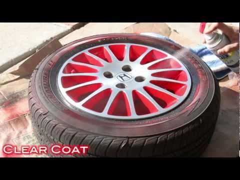 Easy Way To Customize Wheels with Spray Paint - 2 Tone Finish on Civic Stock Wheels