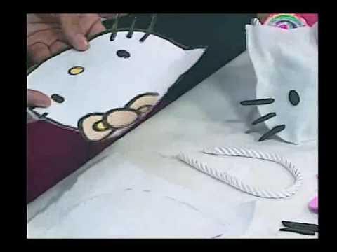144. Cómo hacer una carterita de Hello Kitty. Parte 1