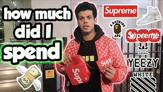 I Spent So much MONEY $$$ On being a HYPEBEAST ! Crazy Shopping