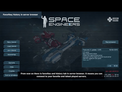 Space Engineers - Update 01.071: New armor blocks, more exploration ships