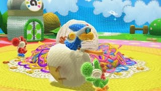 Yoshi's Woolly World 100% Walkthrough Part 1 - World 1