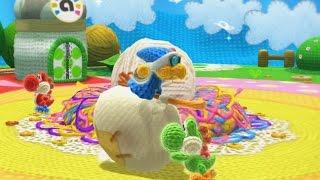 Yoshi's Woolly World 100% Walkthrough - World 1