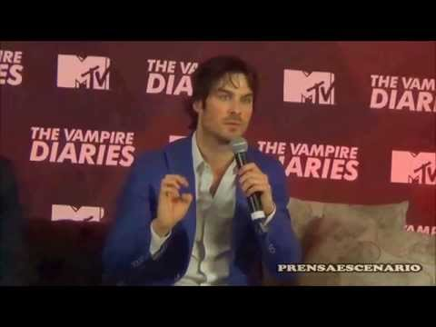 IAN SOMERHALDER -  CONFERENCIA DE PRENSA   MEXICO -  THE VAMPIRE DIARIES