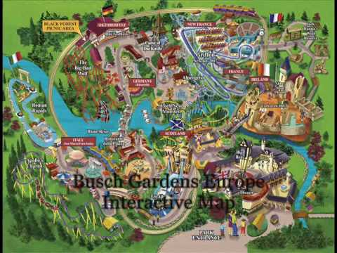 Williamsburg Va Map >> Busch Gardens Europe- Interactive Park Map - YouTube