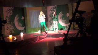 Heather Schmid celebrating Pakistan Day with PTV and Geo performances