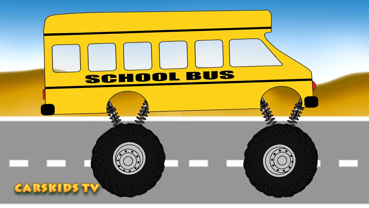 School Bus Monster Truck Toy School Bus Monster Truck