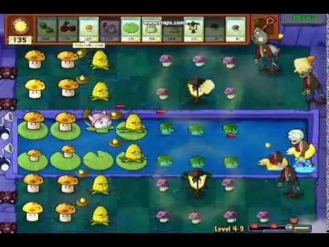 Plantas Vs Zombies(nivel 4-9) Gameplay