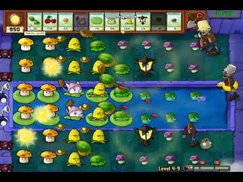 Plantas Vs Zombies(nivel 4-9) Gameplay