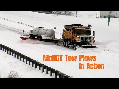 MoDOT Tow Plows In Action