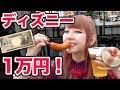 【大食い】ディズニーで1人チャレンジ!1万円分食べきるま