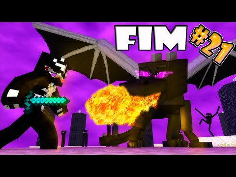 O Dragão Tambem Dorme - #21 Cave-In MINECRAFT FIM