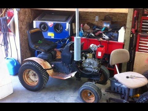 10HP Diesel Garden Tractor ** Exhaust and Cold Start ***Build Part 2***