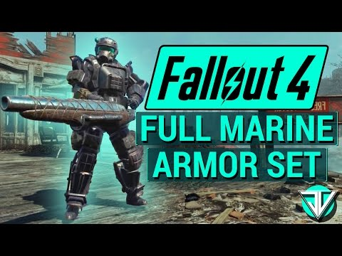 FALLOUT 4: How To Get FULL MARINE ARMOR SET New BEST Armor in Fallout 4! (Far Harbor DLC Armor)