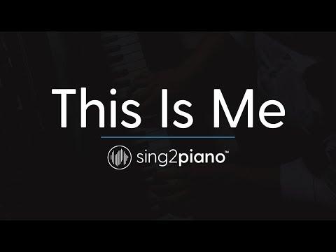 This Is Me [Piano Karaoke Instrumental] Keala Settle & The Greatest Showman Ensemble