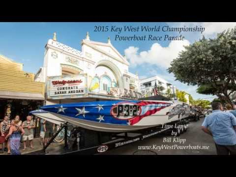 Key West World Championship Powerboat Parade Time Lapse