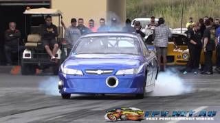 C&V PERFORMANCE V8 TURBO UTE 7.50 @ 183 MPH SYDNEY DRAGWAY 12.9.2014