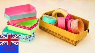 Origami box diy – easy washi tape ideas – decorative gift box