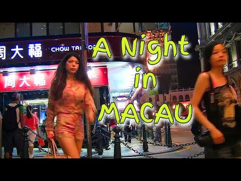 A night in Macau, CHINA