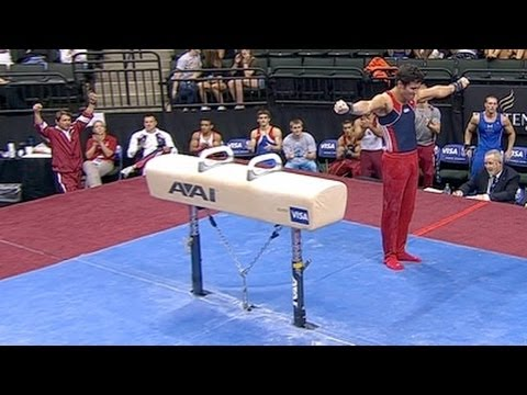 Alexander Naddour highest on Pommel Horse - from Universal Sports