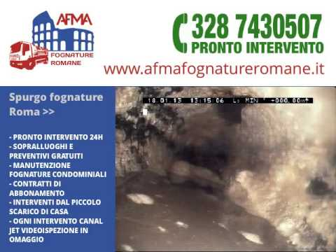 Spurgo fognature Roma