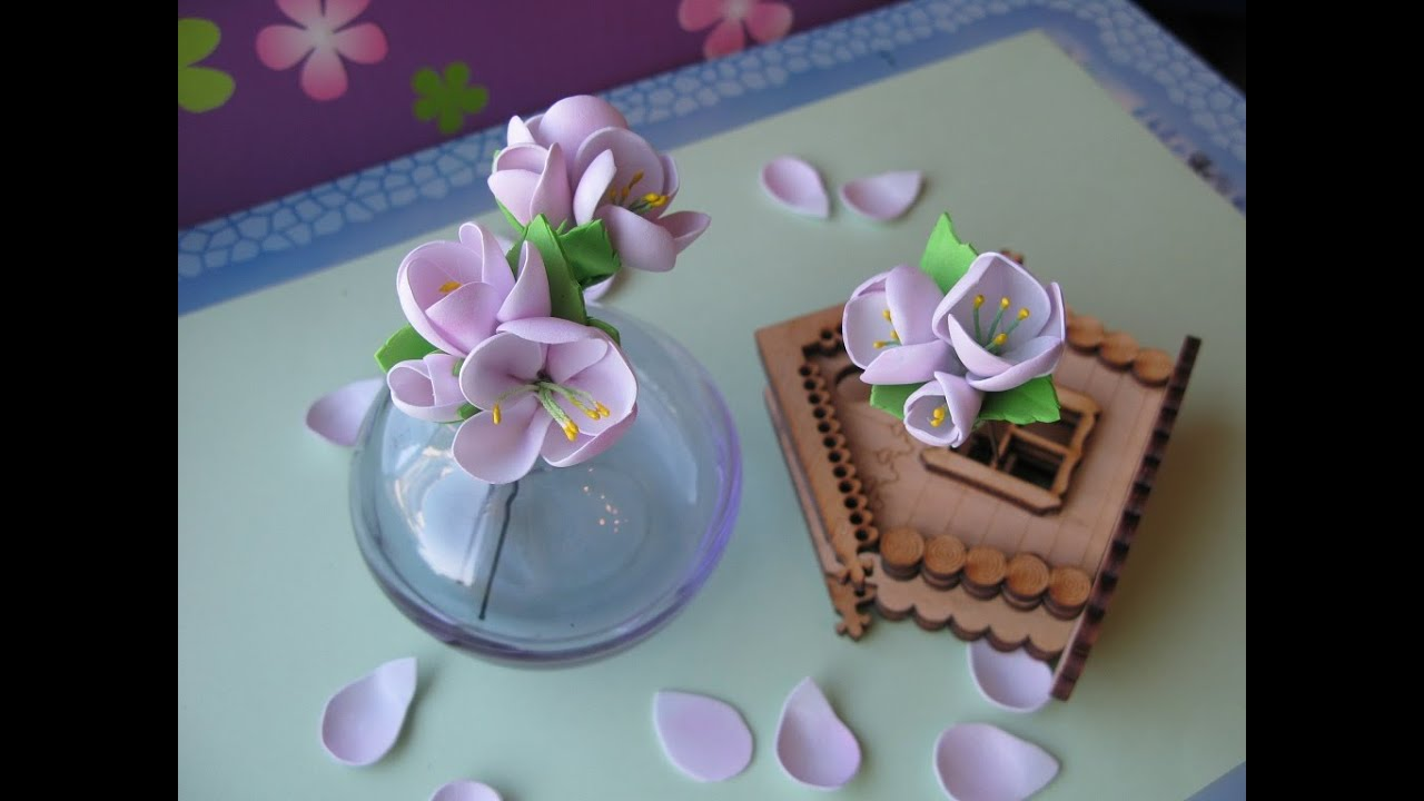 цветы из фоамирана фото мастер класс
