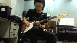 X Japan weekend guitar solo (live version) cover by 秋笙