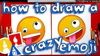 How To Draw The Crazy Face Emoji 🤪