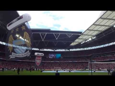 10/08/14 - Arsenal FC 3-0 Manchester City FC - FA Community Shield - Pre-Match - Embrace (1080p HD)