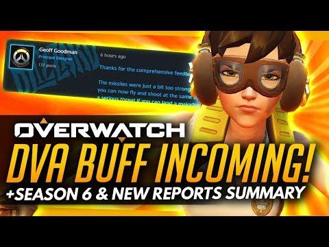 Overwatch | DVA BUFF INCOMING + Season 6 & New Reports Summary