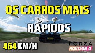 Os carros mais rápidos de Forza Horizon 4