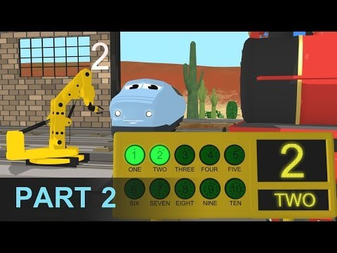 Learn Numbers and Build Trains - Learn Numbers at the Train Factory - Part 2