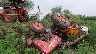 Tractor accident amazing stunt