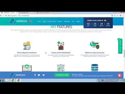 Обзор инвестиционного проекта Impressio. ICO live. Малое инвестирование в криптовалюты