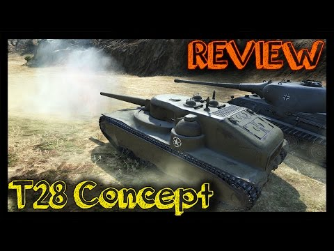 ► [World of Tanks] T28 Concept Review and Gameplay | New Tier 7 USA Special Premium Tank Destroyer