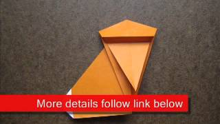 Paper Folding Origami Monkey