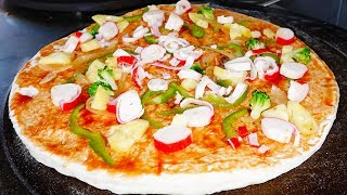 Amazing Street Food Pizza Cooking/Cheap Street Pizza In Ta Khmao