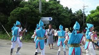 波照間島ムシャーマ2017  ミチサネ(仮装行列、行き)東組
