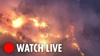 Wildfires tear through homes in Ventura County, California