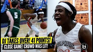 DJ Steward TAKES OVER Close Game! Season High 41 Points! Packed Gym!