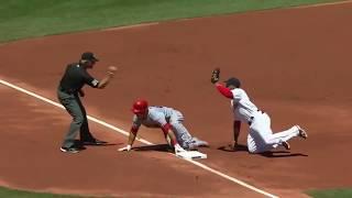 Making the third out at third base