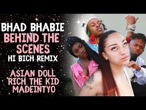 "BHAD BHABIE ""Hi Bich Remix"" BTS Music Video | Danielle Bregoli thumbnail"