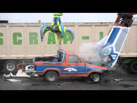 Seahawk fans destroy Bronco