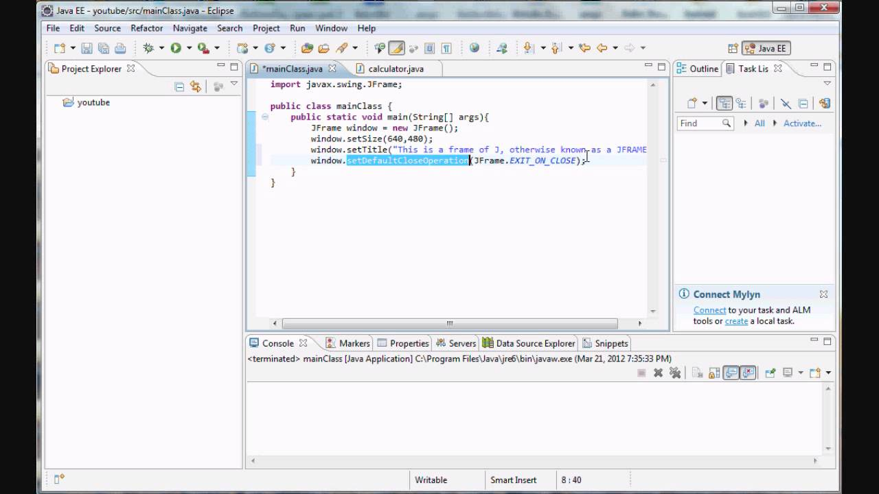 Java Programming 21 Beginning Graphics In Java Youtube